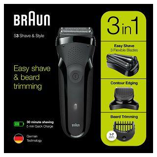 Aparat za brijanje Braun 300BT crni