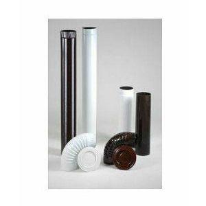 Cijev dimovodna emajlirana 120/1000 smeđa