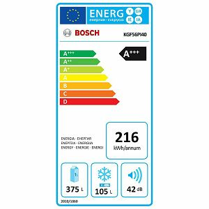 Hladnjak Bosch KGF56PI40 - NoFrost 70cm