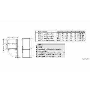 Hladnjak Bosch KGN49XW30 - 70 cm širine - NoFrost