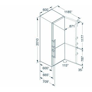 Hladnjak Liebherr CBNef4815BLU Performance Comfort A+++ NoFrost