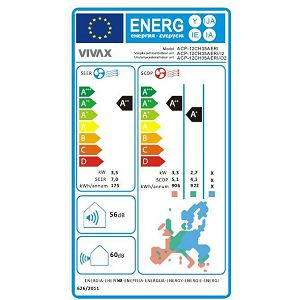 Klima Vivax ACP-12CH35AERI SILVER - inv. 3.81kW