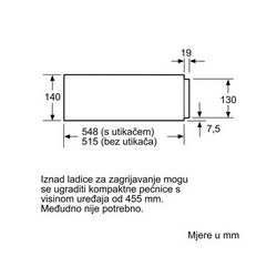 Ladica grijana Bosch BIC630NB1