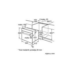 Pećnica Bosch HBA74R252E - piroliza