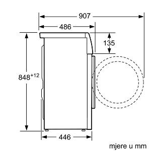 Perilica rublja Bosch WLL24260BY A+++ 45 cm dubine