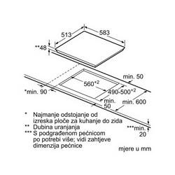 Ploča Bosch PKF642F17 - bijeli okvir