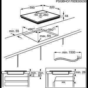Ploča Electrolux LIR60433B - indukcija