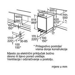 Ugradbeni podpultni Hladnjak Bosch KUL15A65