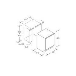 Ugradbeni podpultni Hladnjak Candy CRU164E