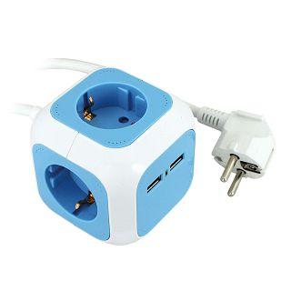 Produžni kabel Commel 4/1,4m 16A 250V~3500W + 2xUSB punjač 5V 2.1A 234-161