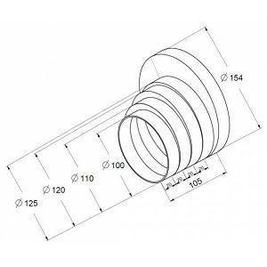 Redukcija cijevi nape Awenta 150/125/120/110/100mm