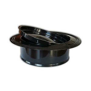 Rozeta dimovodna emajlirana 120mm smeđa