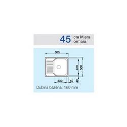 Sudoper BLANCO TIPO 45S Mini