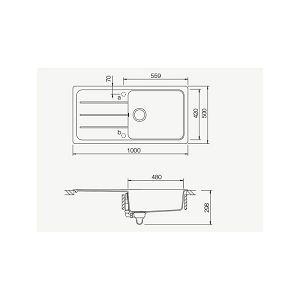 Sudoper Schock Formhaus D-100L