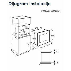 Ugradbena mikrovalna pećnica Electrolux LMS2203EMX