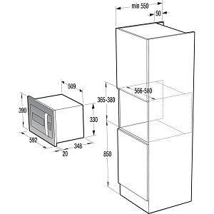 Ugradbena mikrovalna  pećnica Gorenje BM235ORAW
