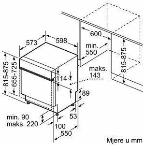 Ugradbena perilica posuđa Bosch SMI46IS00E
