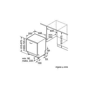 Ugradbena perilica posuđa Bosch SMV25AX00E