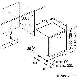 Ugradbena perilica posuđa Bosch SMV46KX04E