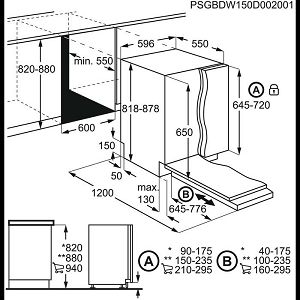Ugradbena perilica posuđa Electrolux EEA27200L