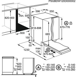 Ugradbena perilica posuđa Electrolux EEG69310L