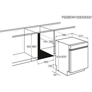 Ugradbena perilica posuđa Electrolux ESI5550LOX - A+++