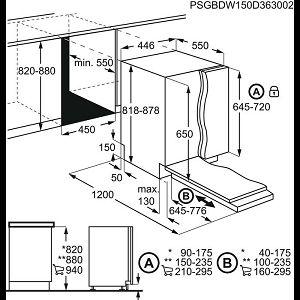 Ugradbena perilica posuđa Electrolux ESL4510LA