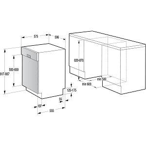 Ugradbena perilica posuđa Gorenje GI65160X