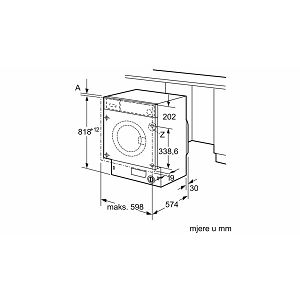 Ugradbena perilica rublja Bosch WIW28540EU