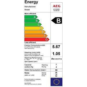 Ugradbena perilica sušilica AEG L61470WDBI