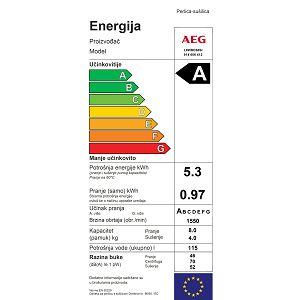 Ugradbena perilica sušilica AEG L8WBE68SI - parna