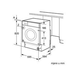 Ugradbena perilica sušilica Bosch WKD28541EU