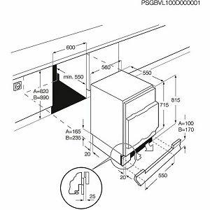 Ugradbeni hladnjak Electrolux ERN1300AOW