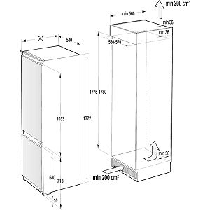 Ugradbeni hladnjak Gorenje NRKI2181A1 - NoFrost