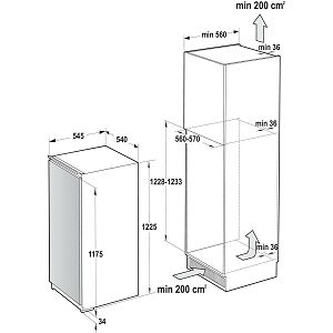 Ugradbeni hladnjak Gorenje RBI4121E1