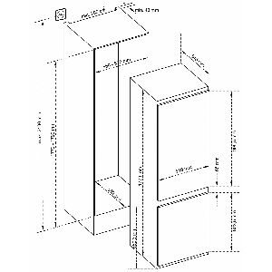 Ugradbeni hladnjak Končar UHC1A54.251SV