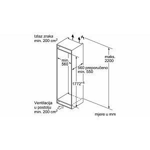 Ugradbeni zamrzivač Bosch GIN81AE30 - NoFrost